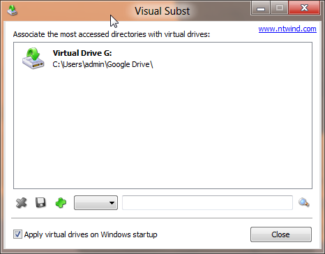 Virtual Drive Visual Subst