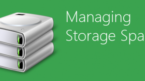 Mange Storage Spaces Windows 8