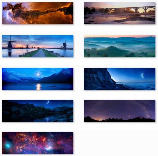 nightfall, starlight, mountain, sea, space, wallpapers