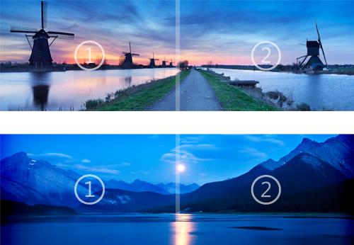 Nightfall and Starlight panoramic Windows 8 theme