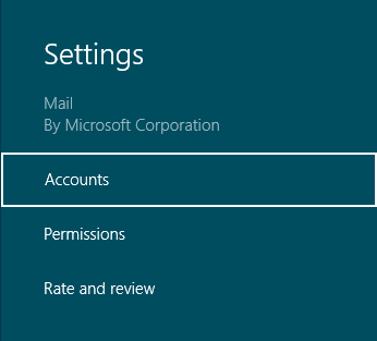 how to add email account to mail in windows 8