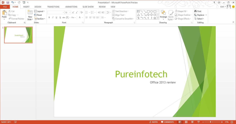 PowerPoint 2013 presentation