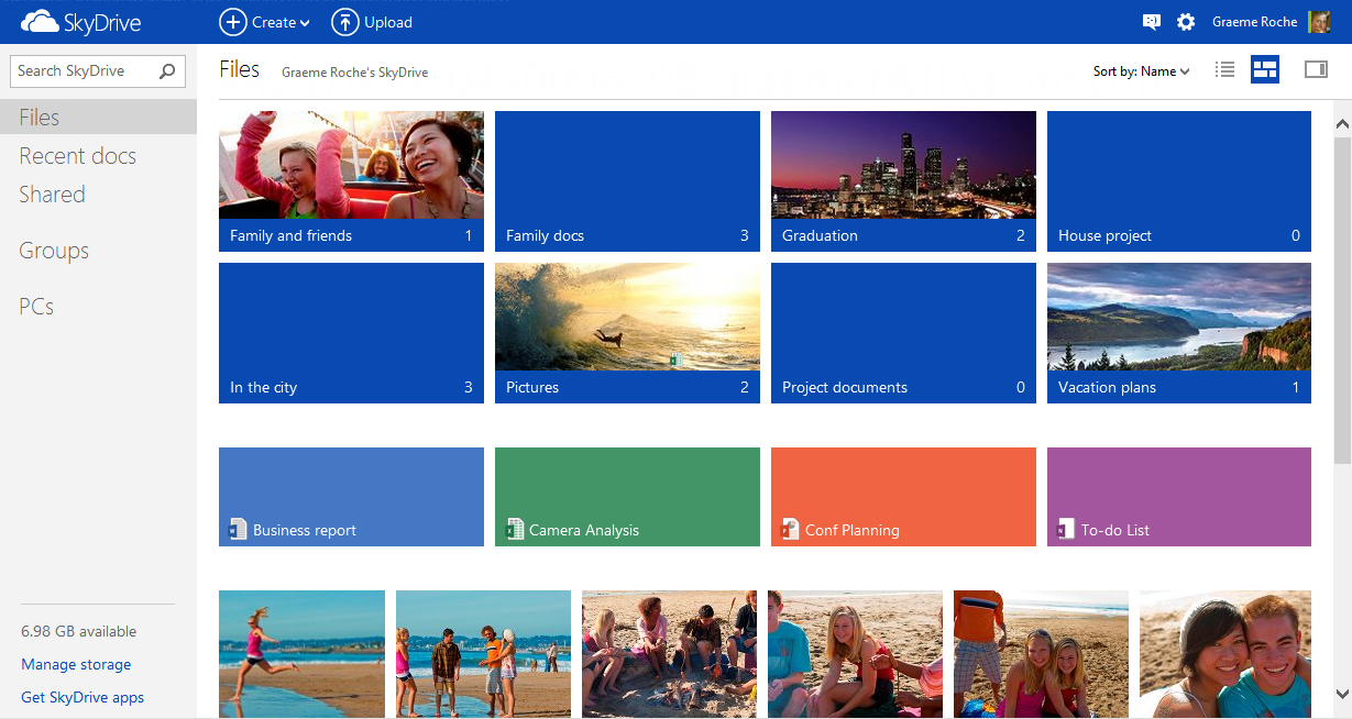New SkyDrive Home