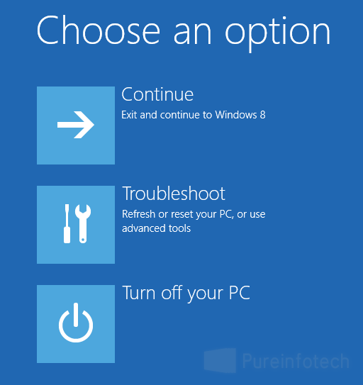 Boot option menu