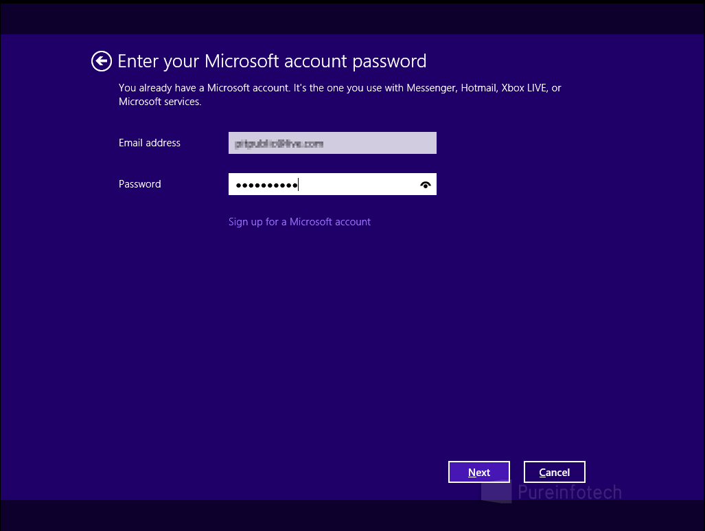 Microsoft account verification