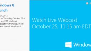Windows 8 launch live webcast