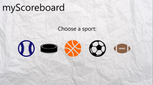 Keep scores with myScoreboard app