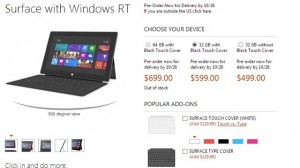 Surface RT prices