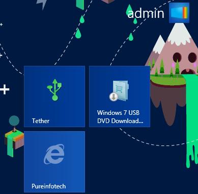 Windows 8 Website shortcut Start screen
