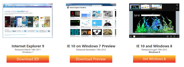 Internet Explorer 10 Preview Win 7