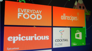 Win 8 apps selection for cooking and drinking