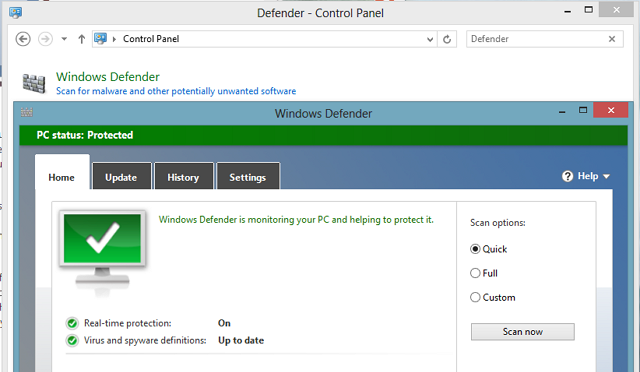 Windows 8 Defender