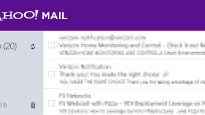 Win8 Yahoo mail app