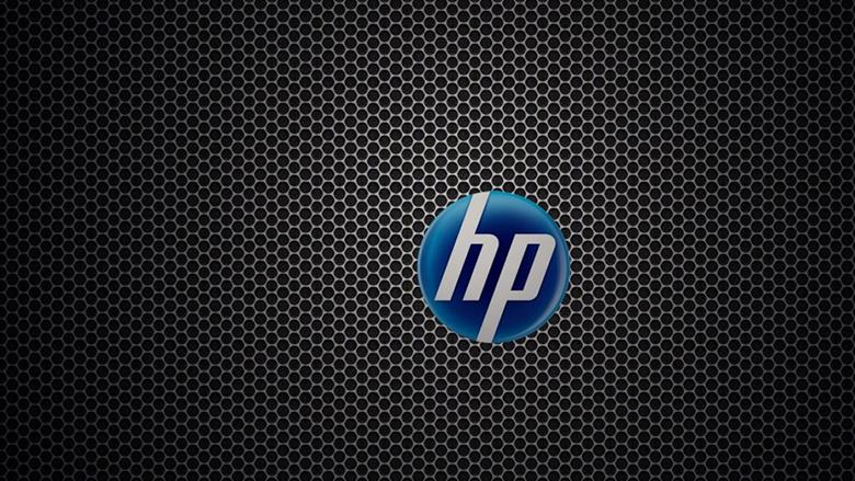 HP logo black and blue medium
