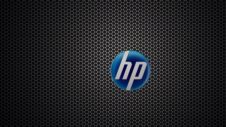 HP logo black and blue medium
