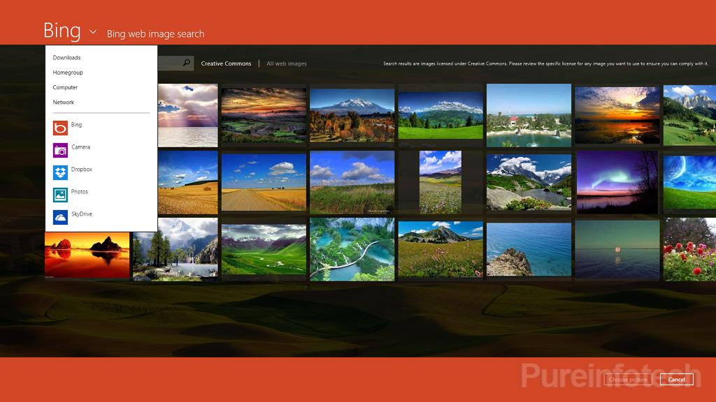 Choose Bing image as background lock screen