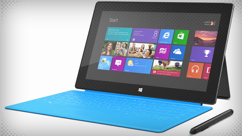 Surface Pro with blue touch cover