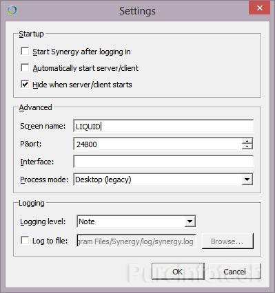 Synergy: Desktop Legacy setting