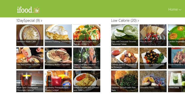 ifood.tv win8 app food recipe