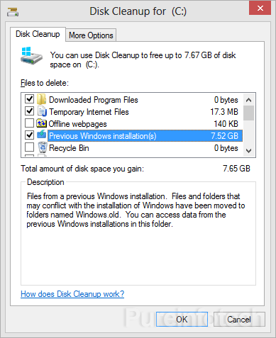 Win8 Previous Windows installation