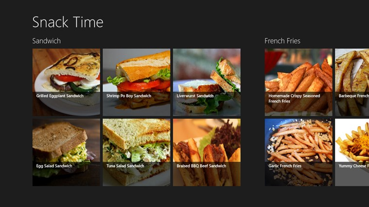 snack time win8 app