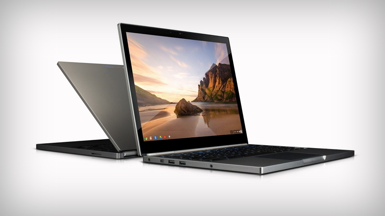 Two Chromebook Pixel white background