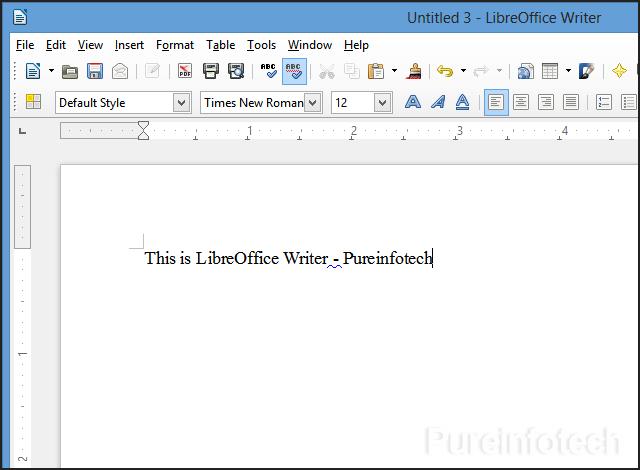 Writer user interface