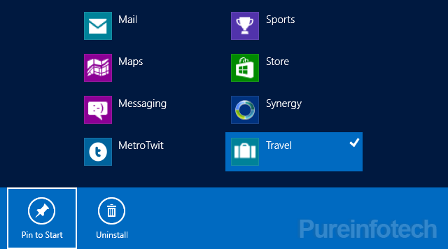 how to rearrange the tiles on the start screen