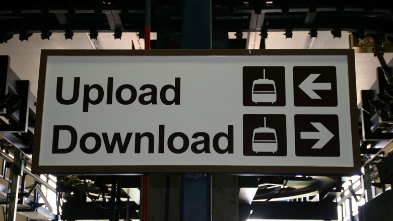 upload download transit sign