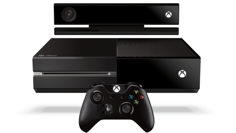 Xbox One console, sensor and controller white background 780_wide