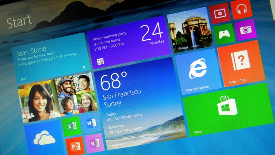 Windows 8.1 Start screen bigger and smaller tiles