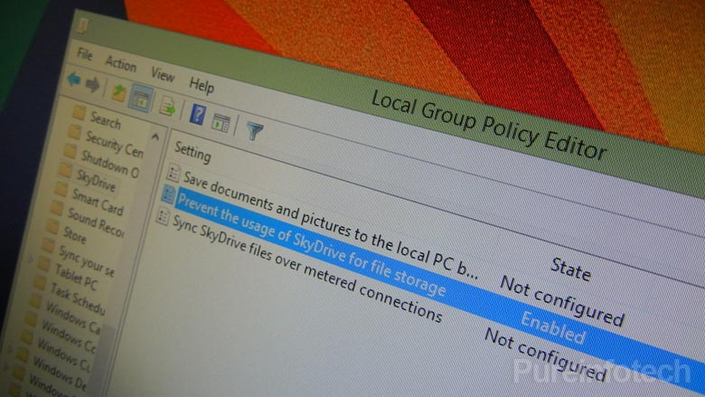 Policy setting to Disable SkyDrive on Windows 8.1
