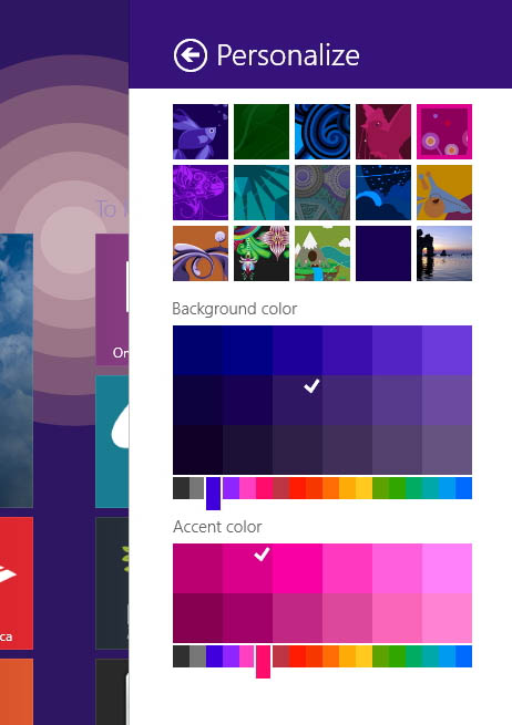 how to change windows 8 color
