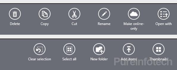 SkyDrive App commands in Windows 8.1