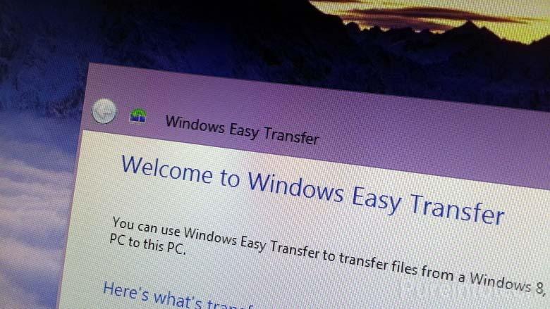 Windows Easy Transfer in Windows 8.1