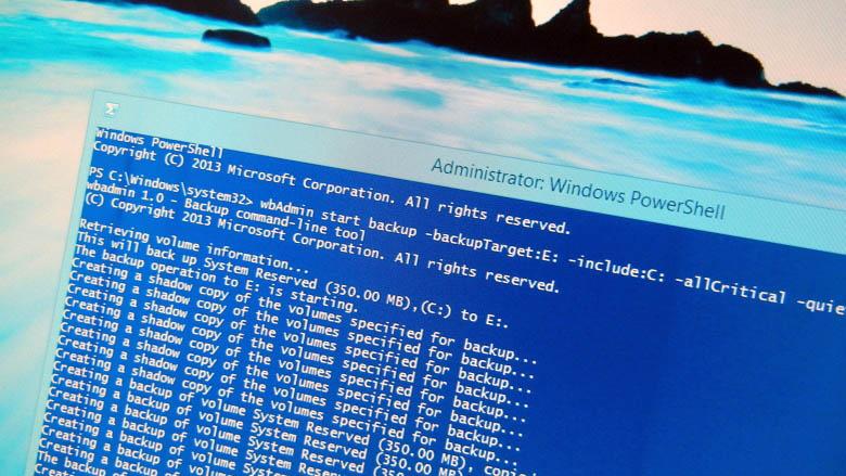 Windows 8.1 System Image Backup using PowerShell