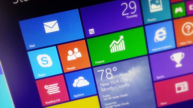 Windows 8.1 Final screenshot of the Start screen