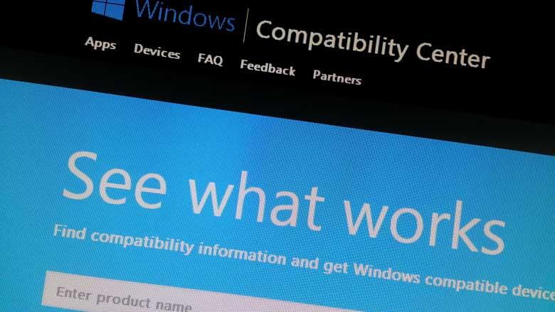 Microsoft update Compatibility Center for Windows 8.1