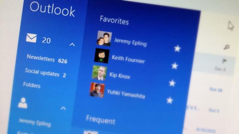 Outlook Windows 8,1