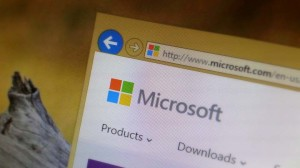Microsoft Logo (Website) with background