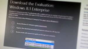 Windows 8.1 Enterprise download 32-bits and 64-bits