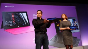 Julie Larson-Green and Mike Angiulo at the Windows 8 launch event