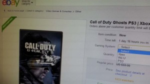 Call of Duty Ghosts game discount