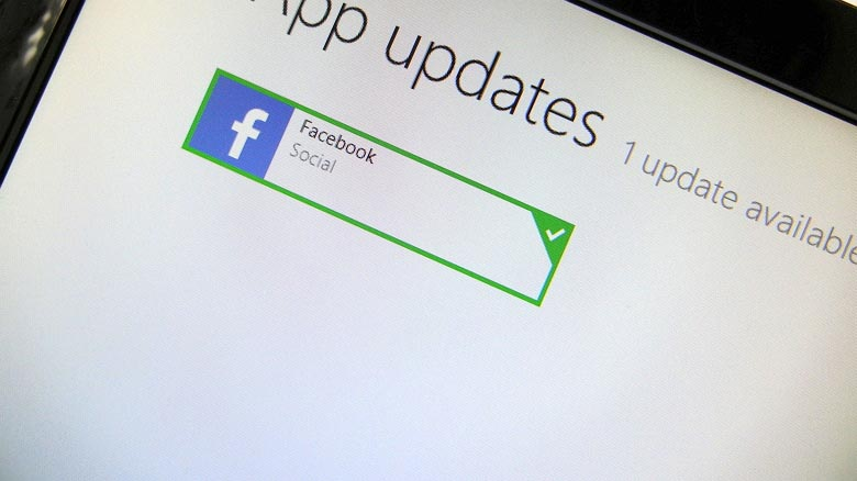 Facebook app for Windows 8.1 update