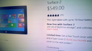 Surface Touch Cover promotional offer