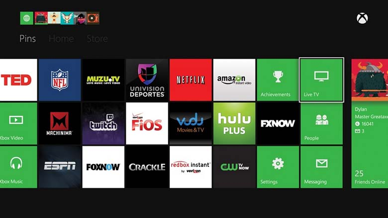 Microsoft Xbox One app lineup