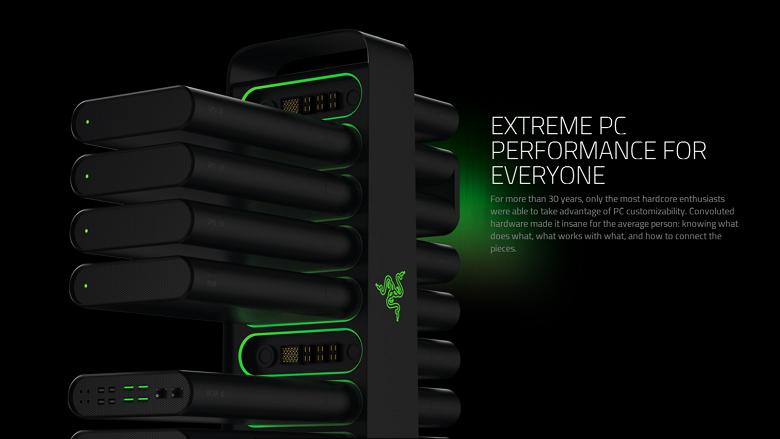 Razer Project Christine desktop PC concept