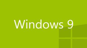 Windows 9 logo green