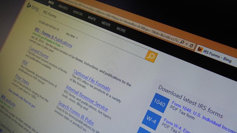 Bing taxes IRS Form search and download
