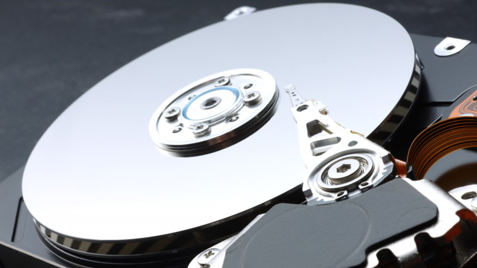 Opened hard drive